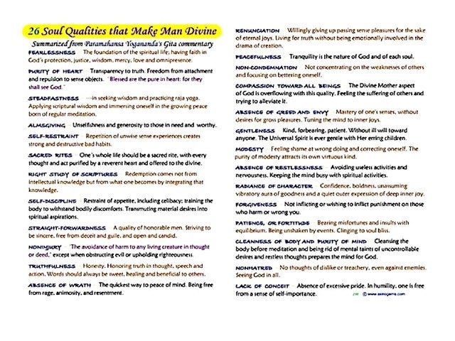 26 Qualities